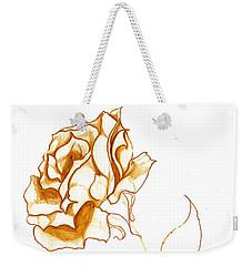 Antiqued Bloom Weekender Tote Bag by Heather  Hiland