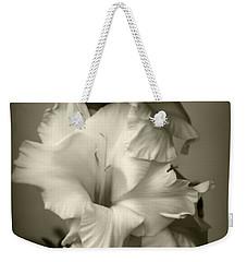 Antiqued Gladiolus Weekender Tote Bag