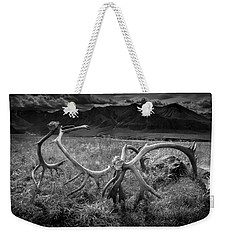 Antlers In Black And White Weekender Tote Bag