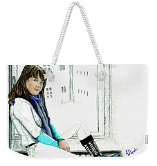 Antonela In The Window Weekender Tote Bag