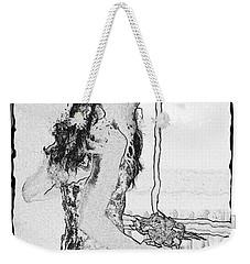 Anxiously Waiting Weekender Tote Bag by Leticia Latocki