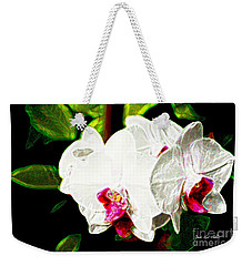Aos White Orchid 2 Weekender Tote Bag
