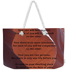 Apache Wedding Blessing On Canyon Photo Weekender Tote Bag by Marcia Socolik