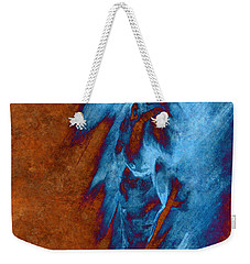 Weekender Tote Bag featuring the drawing Apart With Mood Texture by Paul Davenport