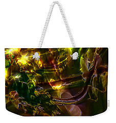 Weekender Tote Bag featuring the digital art Apocryphal - Tilting From Beastback by Richard Thomas