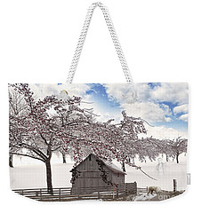 Weekender Tote Bag featuring the digital art Apparition by Liane Wright