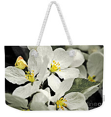 Weekender Tote Bag featuring the photograph Apple Blossoms by Alana Ranney