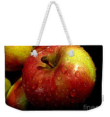 Apple In The Rain Weekender Tote Bag