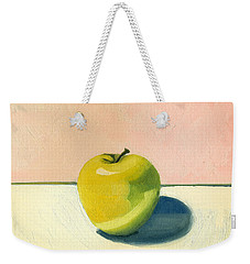 Apple - Pink And White Weekender Tote Bag