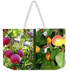 Weekender Tote Bag featuring the photograph Apples And Apricots by Will Borden