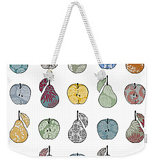 Apples And Pears Weekender Tote Bag by Sarah Hough