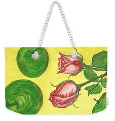 Apples And Roses Weekender Tote Bag
