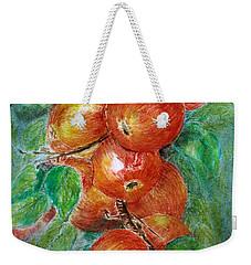 Apples Weekender Tote Bag by Jasna Dragun