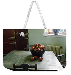 Weekender Tote Bag featuring the photograph Apples by Valerie Reeves