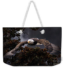 Approaching Eagle-signed- Weekender Tote Bag