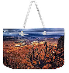 Weekender Tote Bag featuring the photograph Approaching Storm by Priscilla Burgers