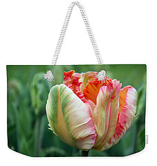 Apricot Parrot Tulip Weekender Tote Bag by Joseph Skompski