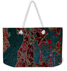 Weekender Tote Bag featuring the painting April Showers/ May Flowers by Jacqueline McReynolds