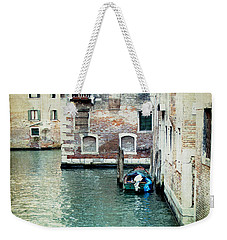 Weekender Tote Bag featuring the photograph Aqua - Venice by Lisa Parrish