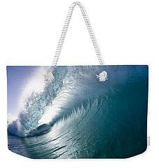 Aqua Curl Weekender Tote Bag