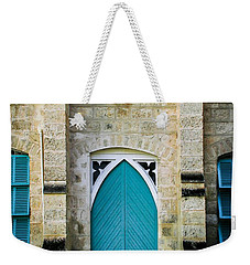 Aqua Door Weekender Tote Bag