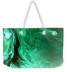 Weekender Tote Bag featuring the mixed media Aqua Tree by Salman Ravish