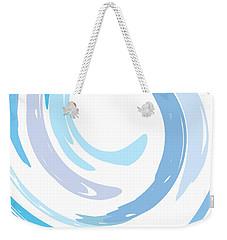 Aqua Swirl Weekender Tote Bag by Ps