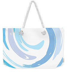 Aqua Swirl Weekender Tote Bag