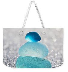 Aquamarine Ice Light Weekender Tote Bag by Barbara McMahon