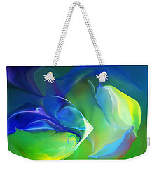 Weekender Tote Bag featuring the digital art Aquatic Illusions by David Lane