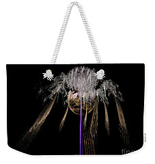 Weekender Tote Bag featuring the digital art Arachnophobia #2 by Russell Kightley