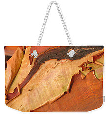 Weekender Tote Bag featuring the photograph Arbutus by Kathy Bassett