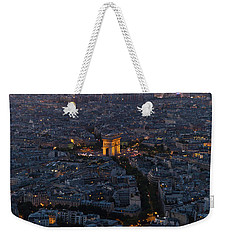 Arc De Triomphe From Above Weekender Tote Bag by Maj Seda