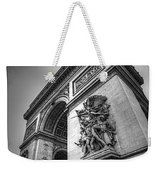 Arc De Triomphe In Black And White Weekender Tote Bag