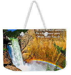 Arc Of The Moral Universe Weekender Tote Bag
