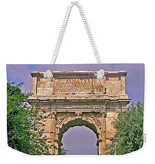 Arch Of Titus Weekender Tote Bag