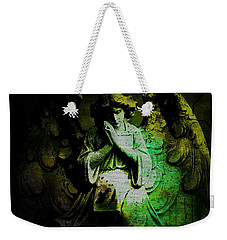 Weekender Tote Bag featuring the digital art Archangel Uriel by Absinthe Art By Michelle LeAnn Scott