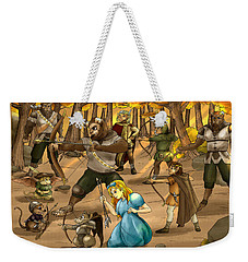 Weekender Tote Bag featuring the painting Archery In Oxboar by Reynold Jay