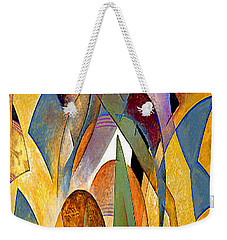 Weekender Tote Bag featuring the mixed media Arches by Rafael Salazar