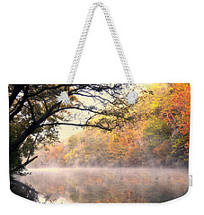 Weekender Tote Bag featuring the photograph Arching Tree On The Current River by Marty Koch