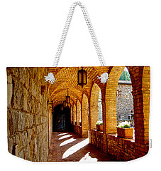 Archway By Courtyard In Castello Di Amorosa In Napa Valley-ca Weekender Tote Bag by Ruth Hager