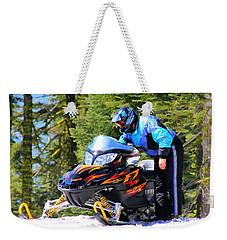 Arctic Cat Snowmobile Weekender Tote Bag