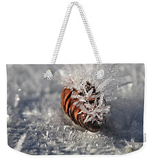 Arctic Pine Cone Porcupine Weekender Tote Bag by Brian Boyle