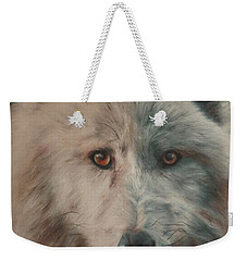 Arctic Wolf Weekender Tote Bag by Cherise Foster