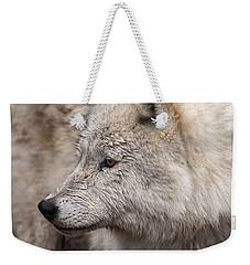 Arctic Wolf Weekender Tote Bag by Eunice Gibb