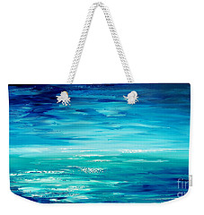 Weekender Tote Bag featuring the painting Are We There Yet? by Tatiana Iliina