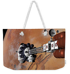Weekender Tote Bag featuring the digital art Ares1 Captured Over Valles Marineris by David Robinson