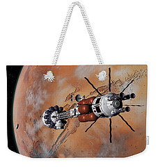 Weekender Tote Bag featuring the digital art Ares1 Within Range For Rendezvous by David Robinson