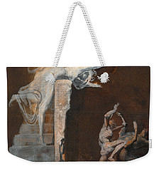 Ariadne Watching The Struggle Of Theseus With The Minotaur Weekender Tote Bag