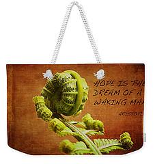 Aristotle Quote Weekender Tote Bag